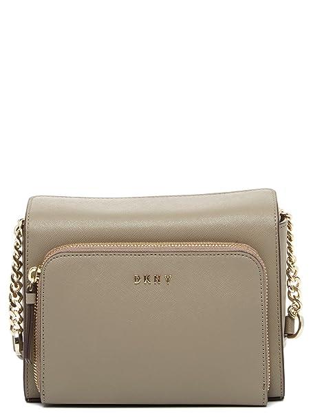 DKNY - Cartera para mujer de Piel Mujer, color gris, talla talla única: Amazon.es: Ropa y accesorios