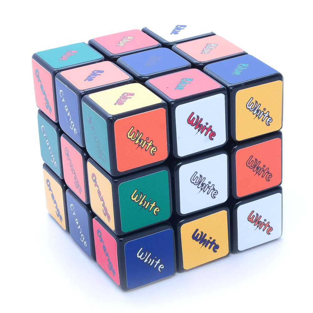 Amazoncom 3x3x3 Black Three Solution Supercube Picture Cube
