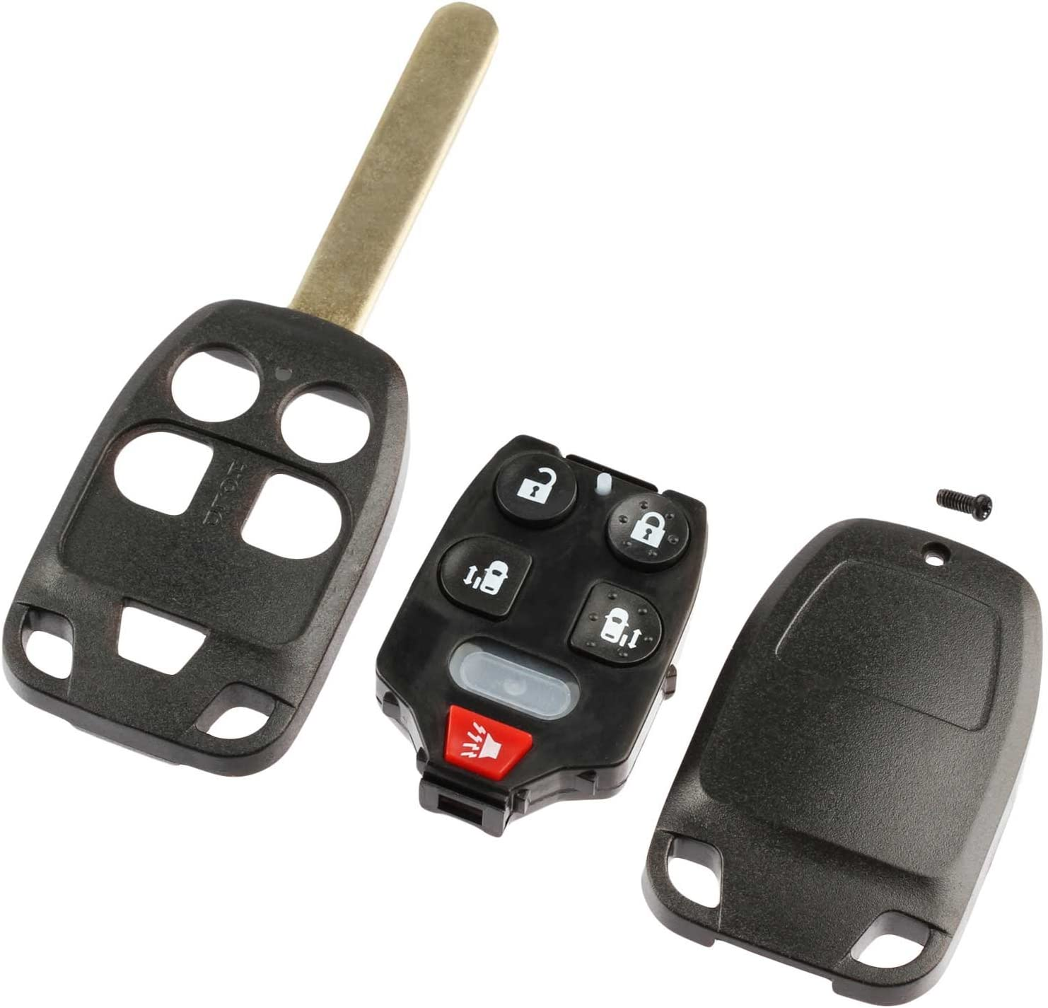 6-Buttons Replacement Car Key Fob Entry Remote Fit for Honda Odyssey 2011 2012 2013 FCC ID: N5F-A04TAA