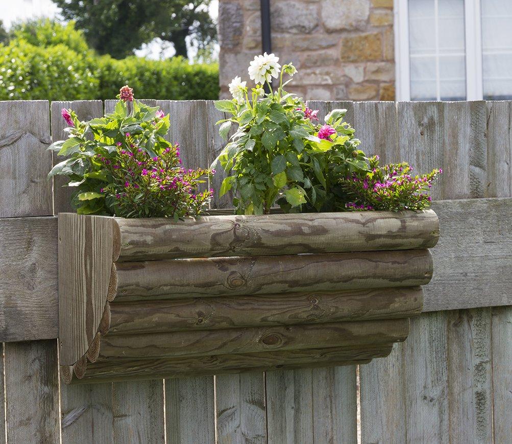 Rustikaler Wand-Pflanzgefäß aus Holz–ideal für Betten und Trailing plants- Druck behandelt Holz–langlebig und hohe Qualität–Sieht in Gärten, Terrassen und Balkone.