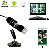Zhenrong 20X-1000X USB Digital Microscope camera android 8-LED light 2.0MP HD Magnifying.Work with Windows/Linux/Vista.Supports various smartphones for iphoneX867 (WIFI simple microscope 1000X.)