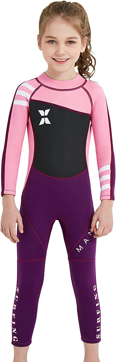 DIVE & SAIL Kids 2.5mm Wetsuit Long Sleeve One Piece UV Protection Thermal Swimsuit