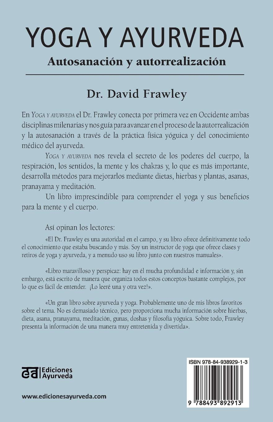 Yoga y Ayurveda (Spanish Edition): David Frawley ...