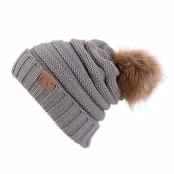Wooya Männer Frauen Baggy Warme Mütze Häkeln Winter Wolle Stricken