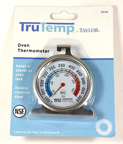 3506 TAYLOR Oven Thermometer,100 to 600F