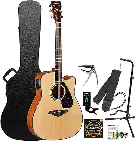 Yamaha FGX800C Guitarra acústica eléctrica con accesorios, color ...