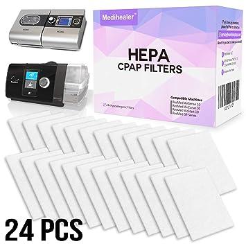Amazon com: CPAP HEPA Filters Kit ResMed 24 Pack - Premium