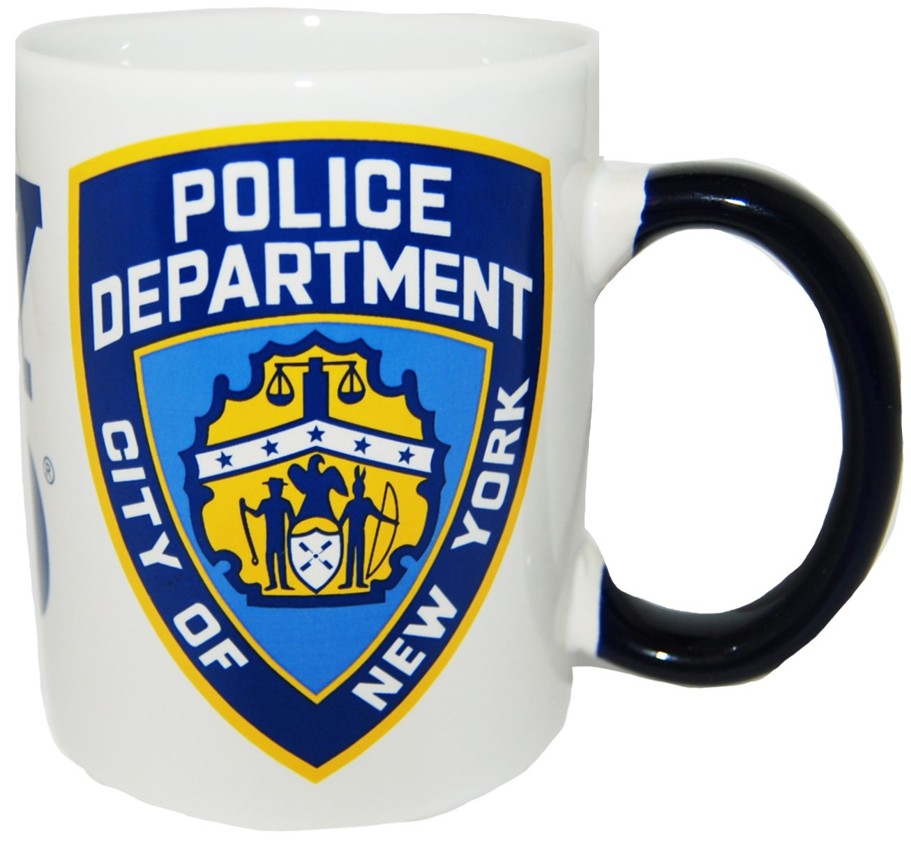 CityDreamShop NYPD White Shield Coffee Mug Officially Licensed by New York Police Department