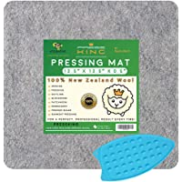 HudsonTech 13.5 x 13.5 Felted Wool Pressing Mats for Quilting - Pad is New Zealand Wool Mat for Sewing Notions and…