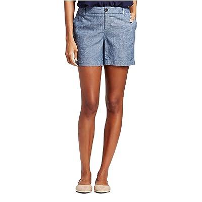 "7Encounter Women's Low Rise Casual Stretch Cotton Chino 5"" Shorts"