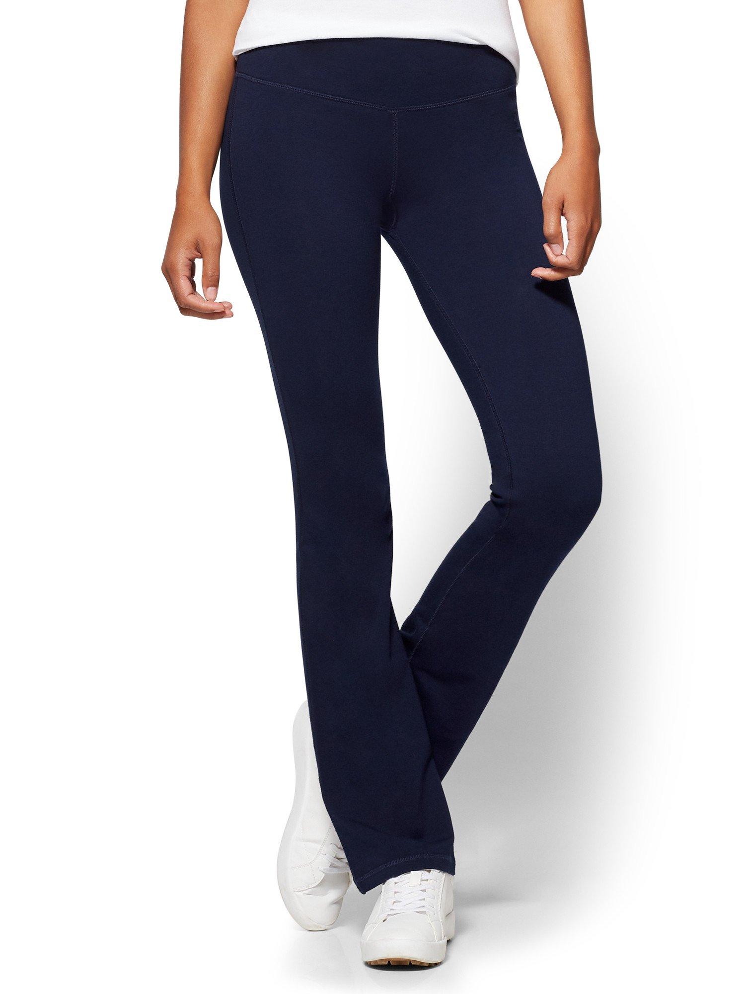 New York & Co. Women's Petite Bootcut Yoga Pant Small Grand Sapphire