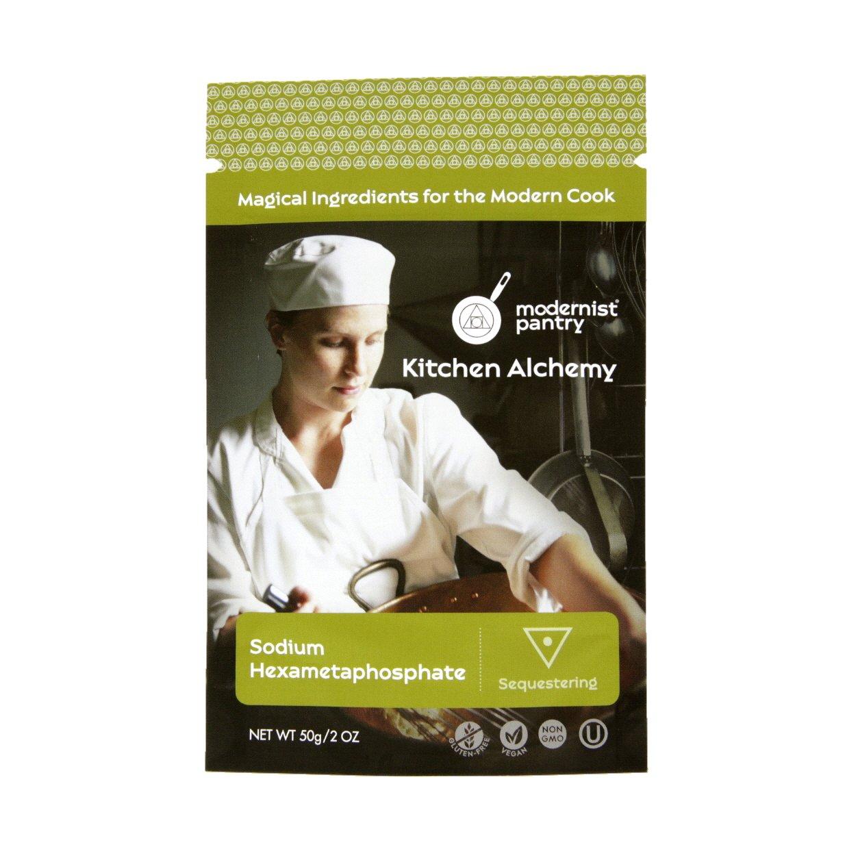 Food Grade Sodium Hexametaphosphate (Molecular Gastronomy) ⊘ Non-GMO ☮ Vegan ✡ OU Kosher Certified - 50g/2oz