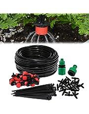 Aiglam Sistema de riego de jardín, Micro Kit de riego por Goteo Riego automático Rociadores automáticos Kit de riego por Goteo Riego de jardín para Jardines, Macizo de Flores, Plantas de Patio