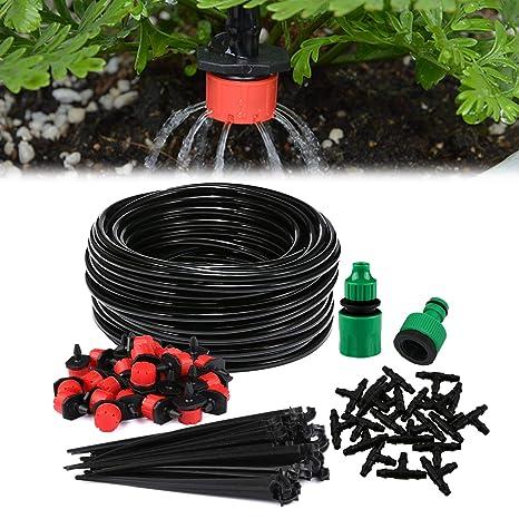 Sistema de riego de jardín, Aiglam Micro Kit de riego por Goteo Riego automático Rociadores automáticos ...
