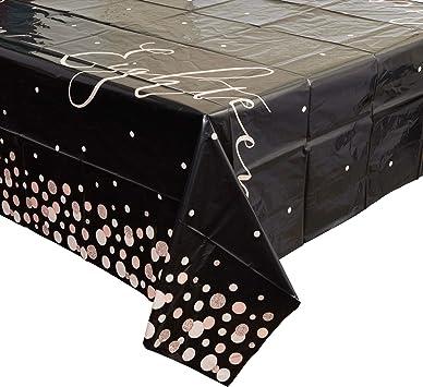 Sparkle and Bash - Juego de fundas de mesa de plástico para 18 cumpleaños (3 unidades, 137 x 274 cm): Amazon.es: Salud y cuidado personal