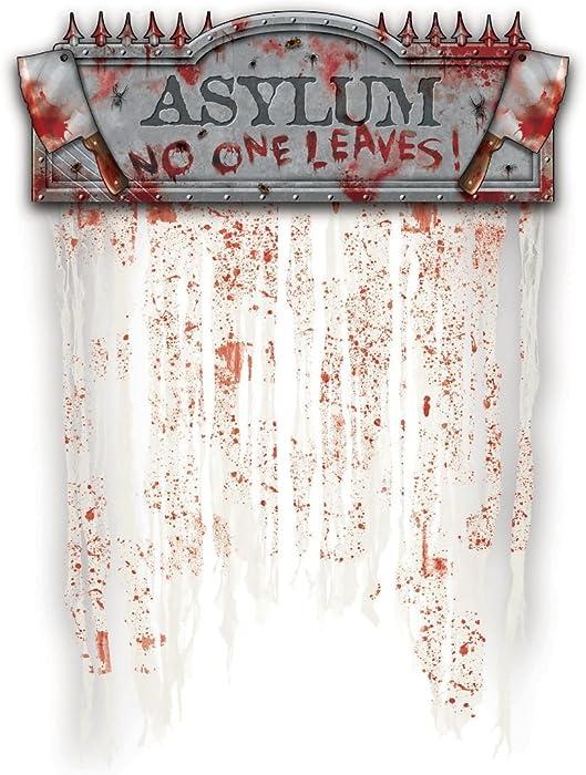 Amscan 248977 Asylum Bloody Doorway Curtain, 1 piece