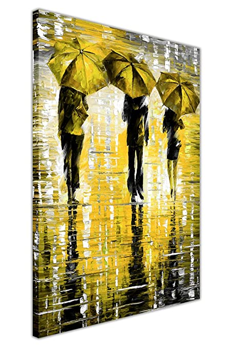 3 UMBRELLAS BY LEONID AFREMOV CANVAS WALL ART PRINTS FRAMED PICTURES ...