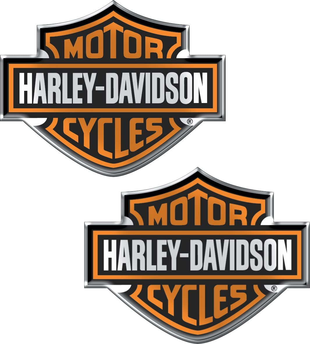 Chroma 5507 Harley-Davidson Domed Emblem Decal One Size