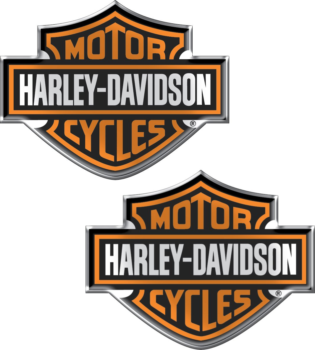 Chroma 5507 harley davidson domed emblem decal harley davidson amazon in car motorbike