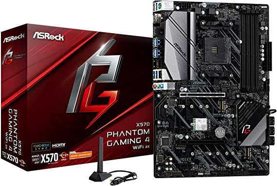 ASRock X570 Phantom Gaming 4 WiFi AX AM4 AMD X570 SATA 6Gb/s ATX AMD Motherboard