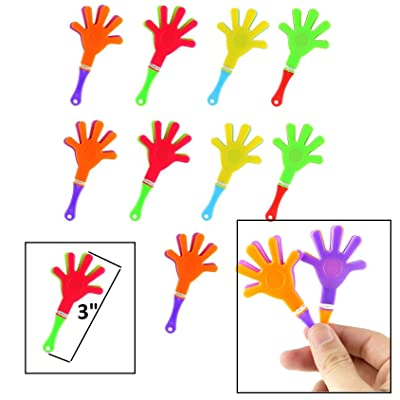 "Mini Hand Clappers/Clakkers (48 Pack) 3"" Noisemakers Party Favors Tiny Hands: Toys & Games"