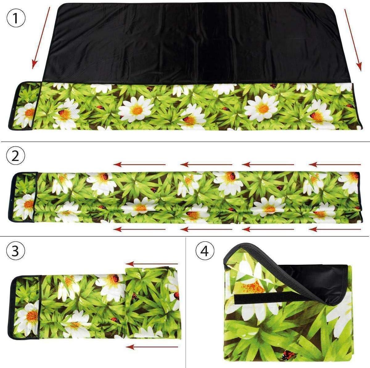 Auswahl: Gr/ö/ße 200x100 cm mit Fotodruck Stranddecke Kofferraumunterlage Campingdecke Picknickdecke wasserabw