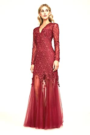 62a8512c56 Tadashi Shoji Women s Ruza Embroidered Tulle Gown at Amazon Women s  Clothing store