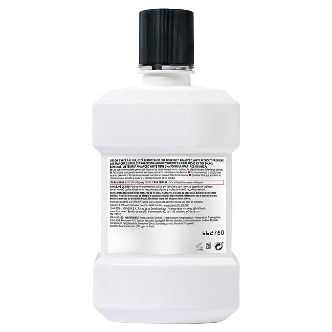 Listerine - Enjuague Bucal Blanqueador Avanzado, 1000 ml: Amazon.es: Belleza
