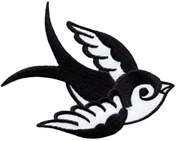 d261d8cb14586 Bird Tattoo Swallow Dove Swiftlet Sparrow Applique Iron-on Patch New ...