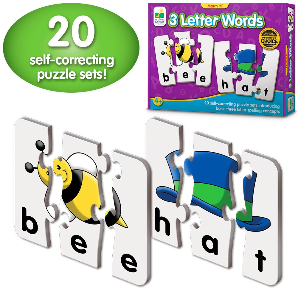 amazon com the learning journey match it 3 letter words 20