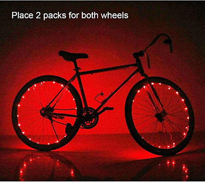 Perfect for Safety and Fun Personalized LED Colorful Wheel Lights Easy to Install Blue Green Red Pink White Multicolore Soondar Super Bright 20-LED Bicycle Bike Rim Lights