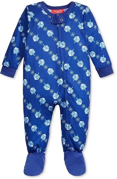 1ffd18a7eb2e Amazon.com  Family Pajamas Baby Boys  Or Baby Girls  Dreidel Footed ...