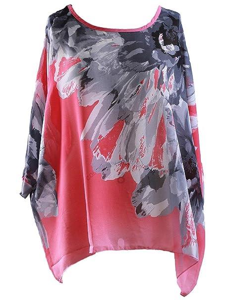 d4314c9f5 Mujer Camisas Verano Moda Tops Anchos Casuales Shirts Túnica Flecos Hipster  Camisetas Cuello Redondo Fiesta Mangas De Murciélago Manga Corta Tshirt  ...
