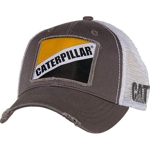 fabc5077edbe5 Amazon.com  Caterpillar Cat Gray Twill w Patch Cap  Clothing