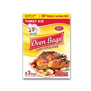 Home Select Oven Bags Turkey Size - 3 Ct. (Pack of 2)