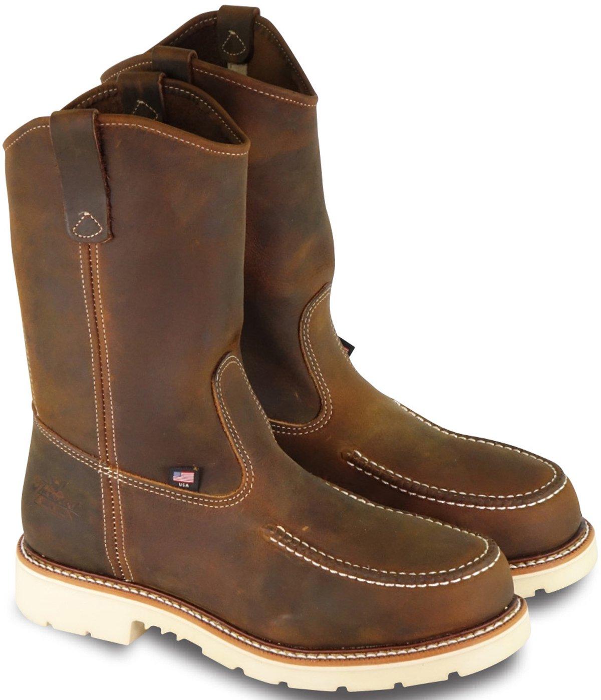 Thorogood 804-3311 Men's American Heritage 11'' Wellington Moc Toe, MAXwear 90 Safety Toe Boot, Trail Crazyhorse - 9 D(M) US