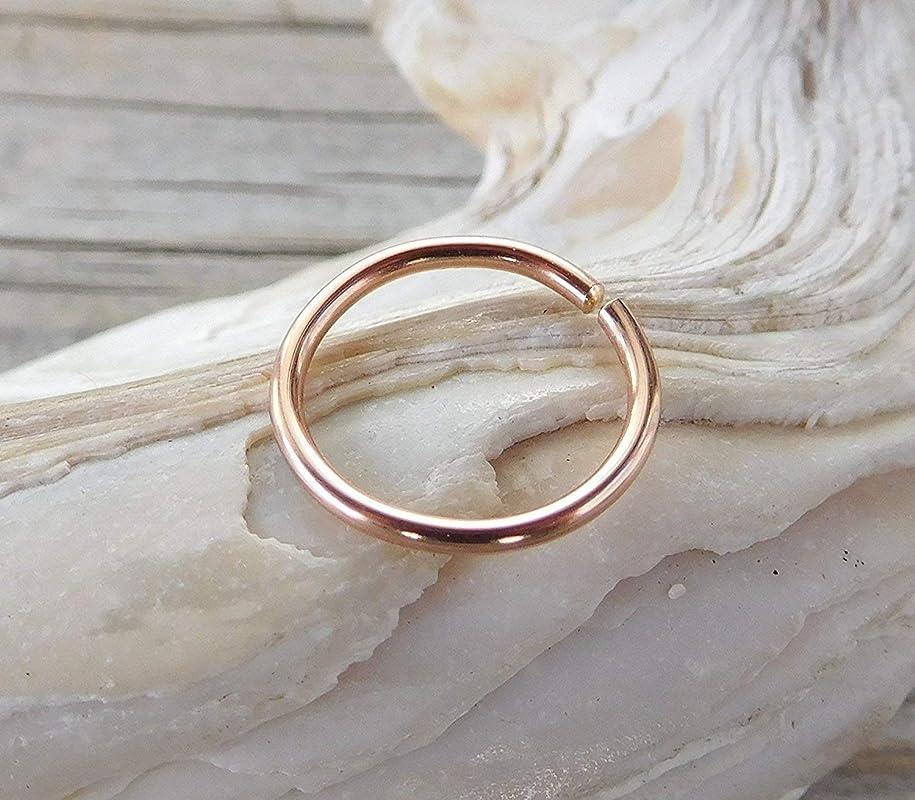 Hex Hoop Rose Daith Ring Sterling Silver Rose Ring Septum Piercing Flower Helix Hoop Rose Helix Ring Daith Septum Hoop Rose Jewelry