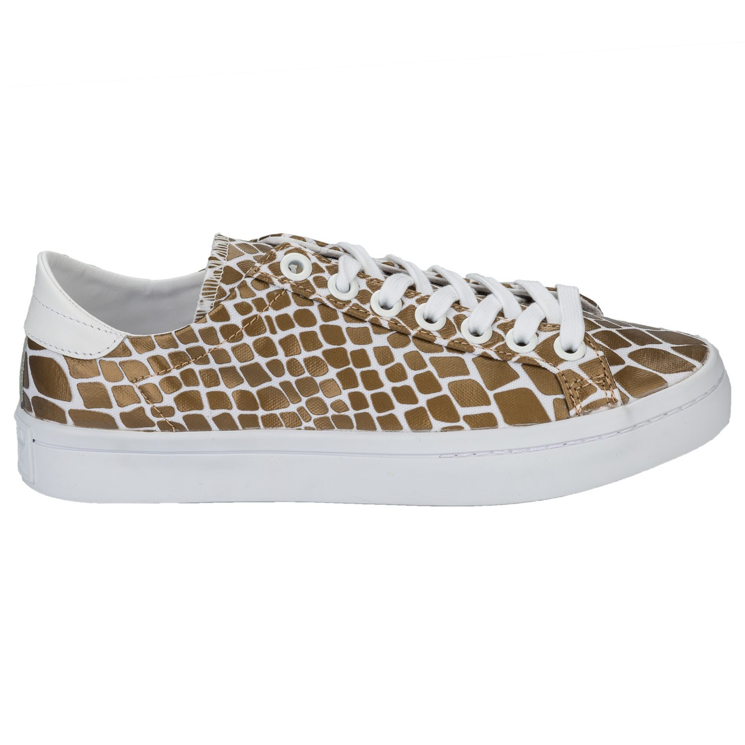 new product e5977 b3f7b Amazon.com   adidas Originals Womens Court Vantage Snake Skin Trainers  White, Gold   Fashion Sneakers
