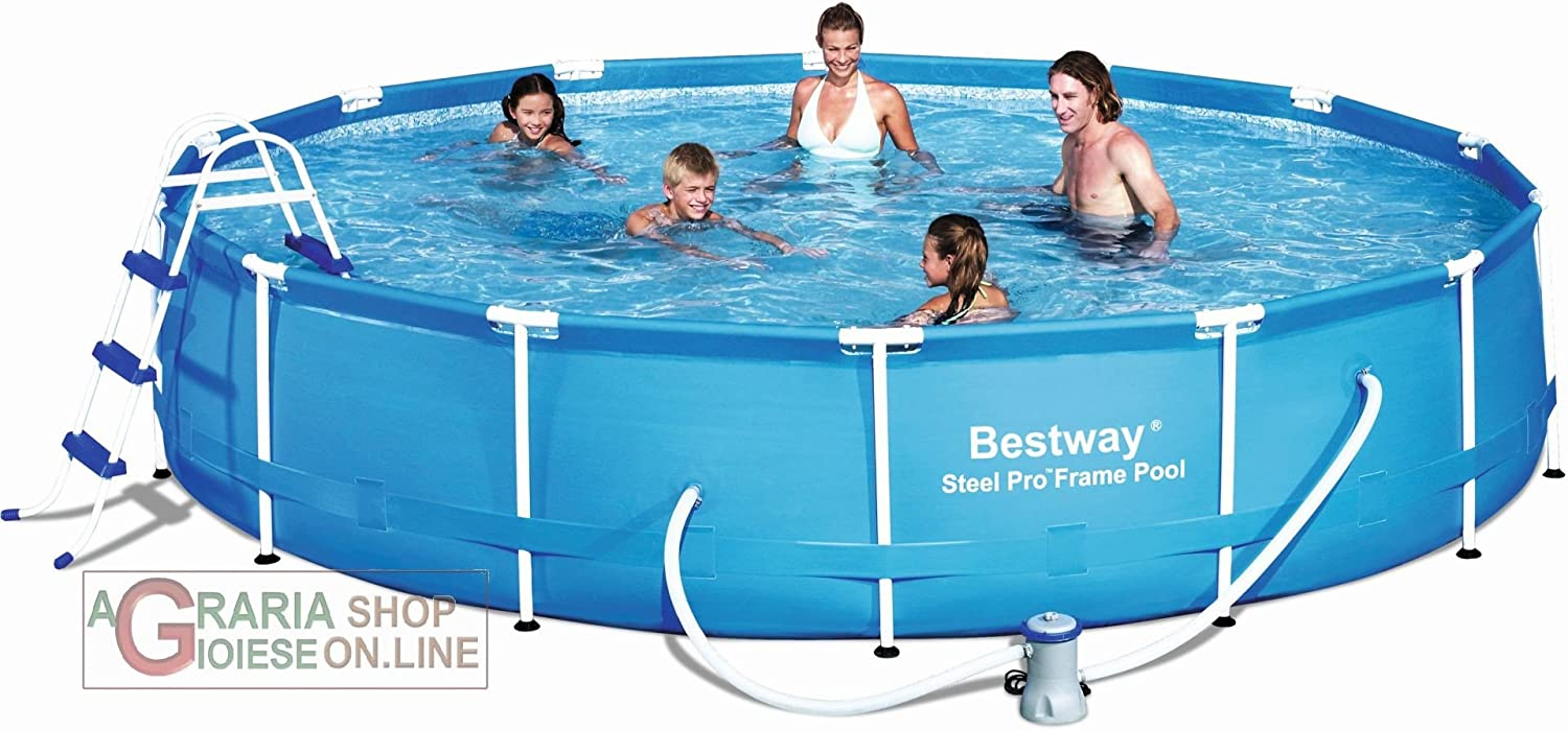 PISCINA DESMONTABLE BESTWAY 56066 457 x 91 cm: Amazon.es: Juguetes ...