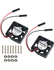 MakerHawk 2pcs Raspberry Pi DC Brushless Cooling Fan Heatsink Cooler Radiator Connector Separating One-to-Two Interface 3.3V 5V for Raspberry Pi 2/Pi 3/3B+ and Pi Zero/Zero W or Other Robot Project