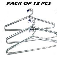 Blumfye Tip Steel Cloth Hanger (Heavy), Pack of 12