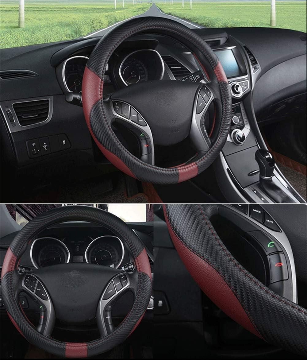 vin Rouge ,45cm Camion Voiture Couvre Volant Microfibre Anti-Slip en Cuir Accessoires Auto pour Voiture SUV Scania R P et S RV Bus