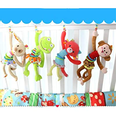 Lalang Bébé Jouet de Poussette Berceau Animales en Peluche d'activités Hanging Jouets (Grenouilles)