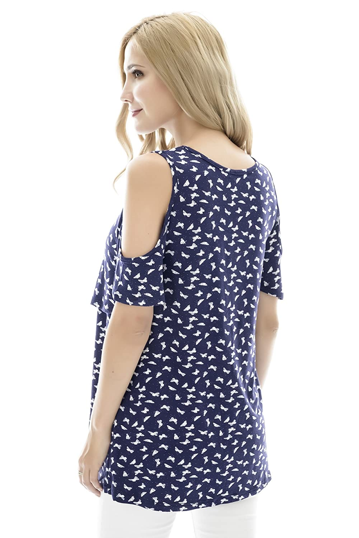 Bearsland Womens Maternity Nursing Tops Modal Comfy Short Sleeve Breastfeeding Clothes