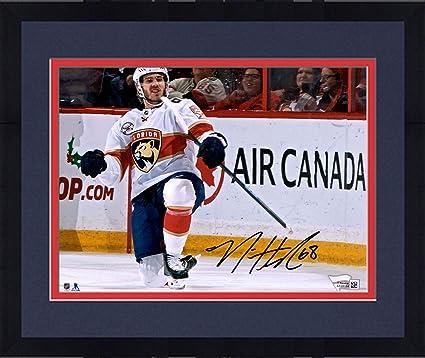 Framed Mike Hoffman Florida Panthers Autographed 8 quot  x 10 quot  Goal  Celebration Photograph - Fanatics db746a0b9