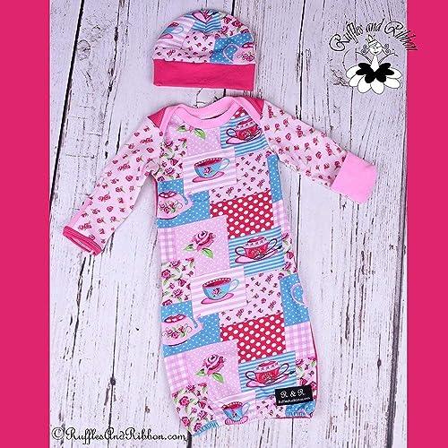 b5d44de33 Amazon.com  Newborn Baby Hat Newborn Baby Gown   0-3 Months Layette ...