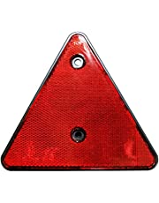 Catadioptre arrière rouge, sET de 2 triangles suspension trailer conformes réflecteur gauche droite otto harvest-neuf