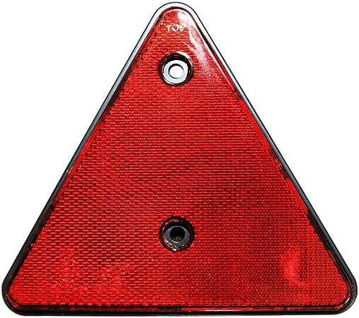 2er Set Rückstrahler Dreieck Rot E Geprüft Hänger Trailer Reflektor Links Rechts Auto