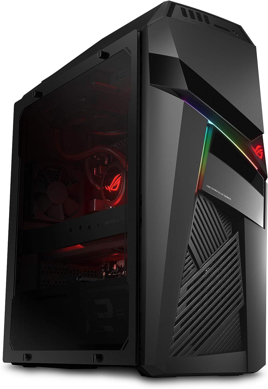 ROG Strix GL12 Gaming Desktop, Overclocked 9th Gen Intel Core i7-9700K, NVIDIA GeForce RTX 2070 8GB, 16GB DDR4 RAM, 512GB SSD + 1TB HDD, Windows 10, Black/Grey - GL12CX-DS771