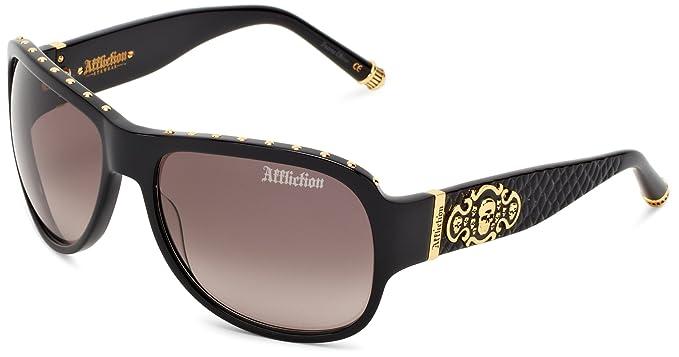 Amazon.com: AFFLICTION anteojos de sol Raven Oval anteojos ...